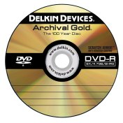 "Delkin's Archival Gold DVD-R ""100 Year Disc"" with Scratch Armor Surface"