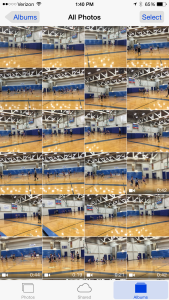 "Forgot my ""real"" camera for my son's basketball game so had to shoot with my iPhone. Obviously, I mostly got a lot of pics of blurry players & usually missed the main action. Now I need to delete the ones that can't be salvaged!"